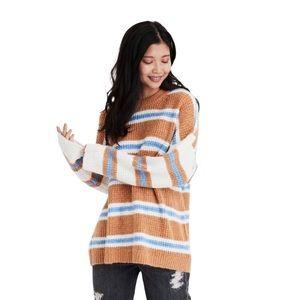 AMERICAN EAGLE Contrast Stripe Sweater Pullover M